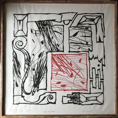 Radierung Und Aquatinta Alechinsky - Vol au vent