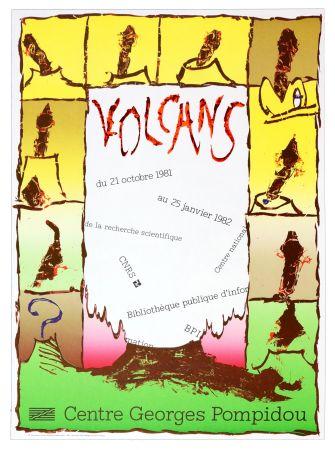 Plakat Alechinsky -  Volcan, Centre Georges Pompidou, 1981