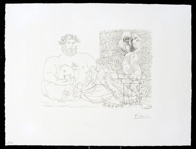 Stich Picasso - Vollard Suite – Sculptor and Model