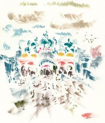Lithographie Masson - Voyage à Venise
