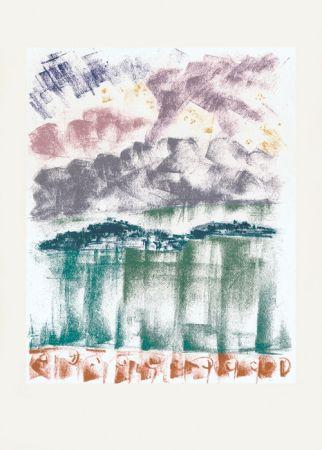 Lithographie Masson - Voyage à Venise : La nuit à Bellagio