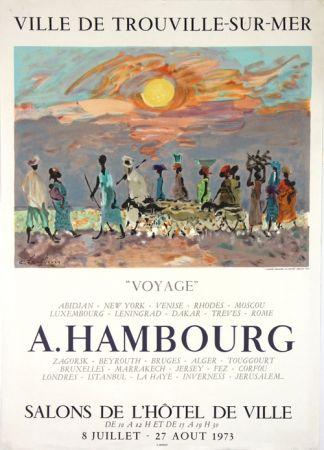 Lithographie Hambourg - Voyages  Hotel de Ville de Trouville
