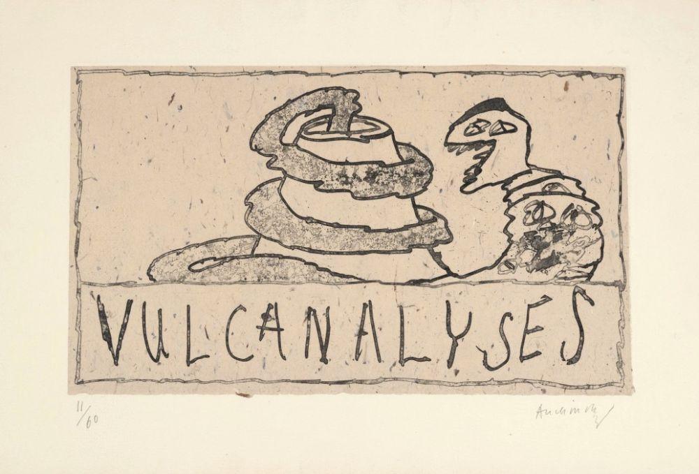Stich Alechinsky - Vulcanalyses
