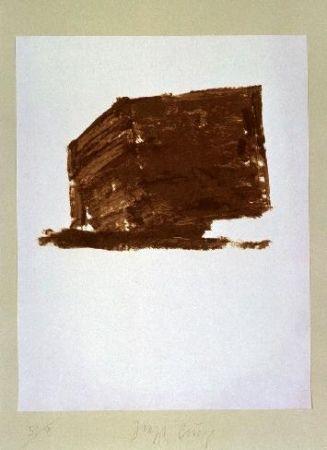 Lithographie Beuys - Wandernde Kiste Nr.1