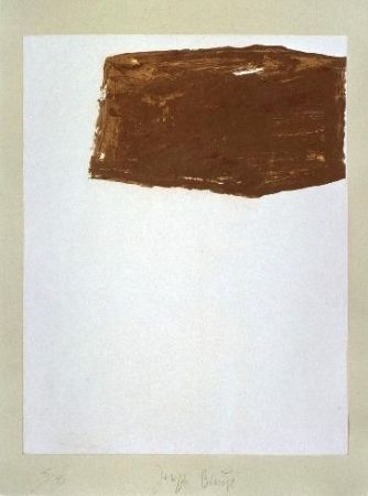 Lithographie Beuys - Wandernde Kiste Nr. 2