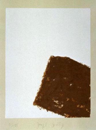 Lithographie Beuys - Wandernde Kiste Nr. 3