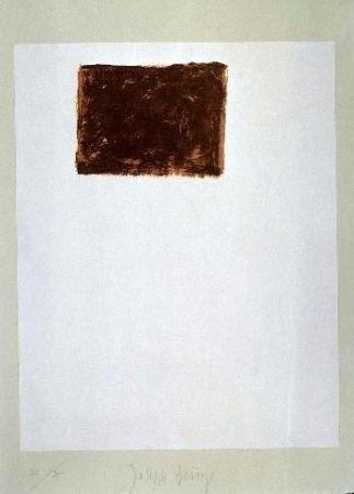 Lithographie Beuys - Wandernde Kiste Nr. 5