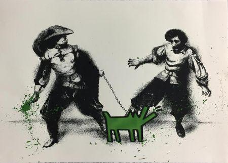Siebdruck Mr Brainwash - Watch Out! (Green)