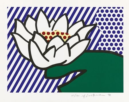 Siebdruck Lichtenstein - Water Lily