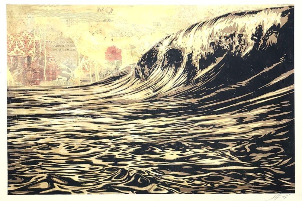 Siebdruck Fairey - Wave