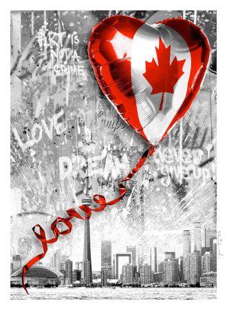 Siebdruck Mr. Brainwash - We Love Canada