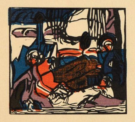 Holzschnitt Kandinsky - Weisser Klang