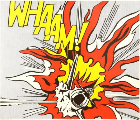 Lithographie Lichtenstein - Whaam!