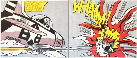 Lithographie Lichtenstein - 'WHAAM!' (Diptych) Pop Art Poster Print Set