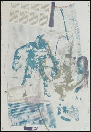 Lithographie Rauschenberg - White Walk, from Stoned Moon series