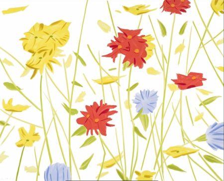 Siebdruck Katz - Wildflowers