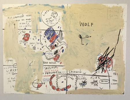 Siebdruck Basquiat - Wolf Sausage