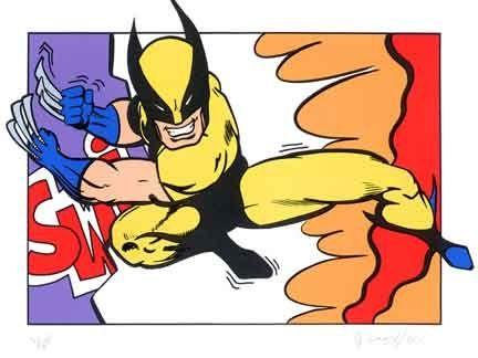 Siebdruck Matos - Wolverine