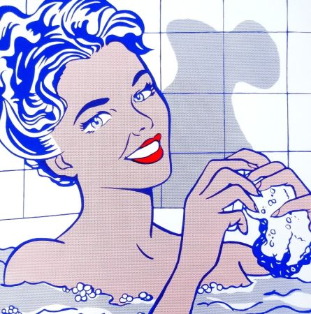 Siebdruck Lichtenstein - Woman In Bath