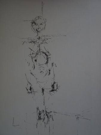 Lithographie Giacometti - Woman standing