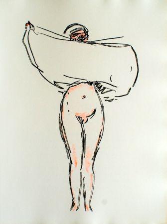 Radierung Van Dongen - Woman with a skirt