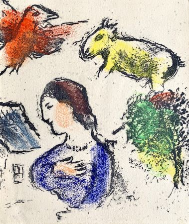 Lithographie Chagall - Woman with animals