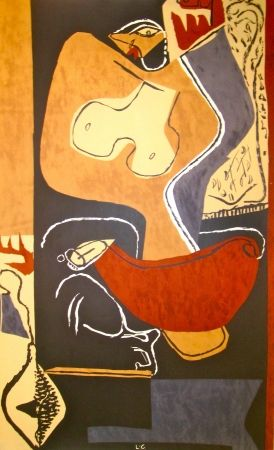Lithographie Le Corbusier - Woman with rising Hand
