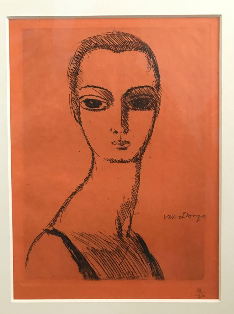 Stich Van Dongen - Woman with swann neck