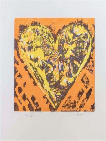 Holzschnitt Dine - Woodcut Heart
