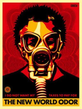Siebdruck Fairey - World Odor