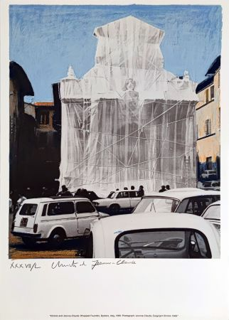 Siebdruck Christo & Jeanne-Claude - Wrapped Fountain Spoleto