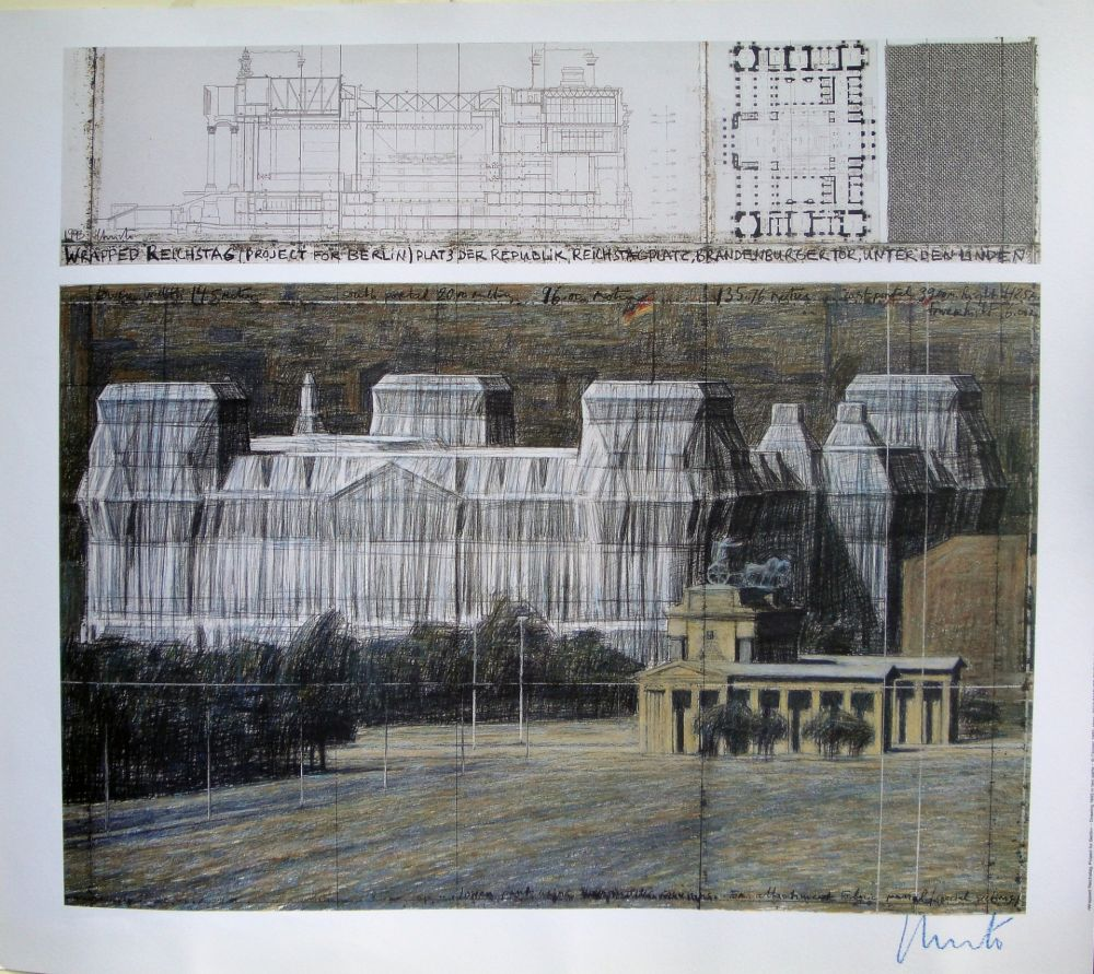 Siebdruck Christo - Wrapped Reichstag VI