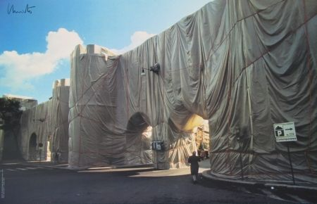 Offset Christo - Wrapped Roman Wall, Porta Pinciana, Rome
