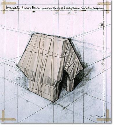Lithographie Christo - Wrapped Snoopy House