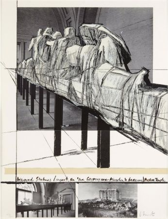 Siebdruck Christo & Jeanne-Claude - WRAPPED STATUES