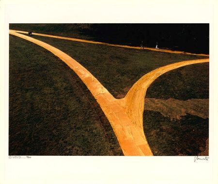Lithographie Christo - Wrapped Walk Ways