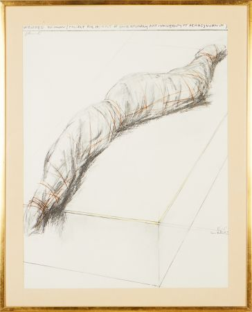 Siebdruck Christo - Wrapped woman - Project for the Institute of Contemporary Art, Philadelphia