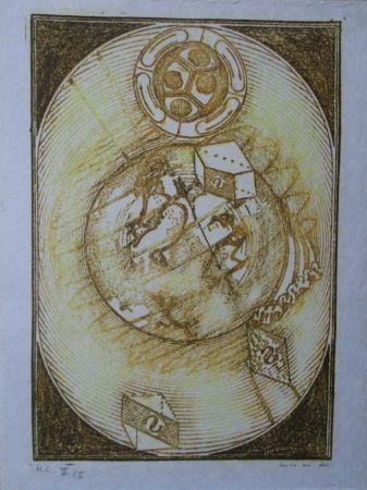 Lithographie Ernst - Wunderhorn, I