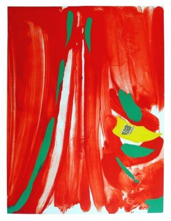 Lithographie Debré - Xian rouge - Deuxième planche
