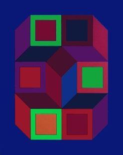 Siebdruck Vasarely - Xico