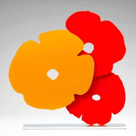 Multiple Sultan - Yellow and Red Poppies,