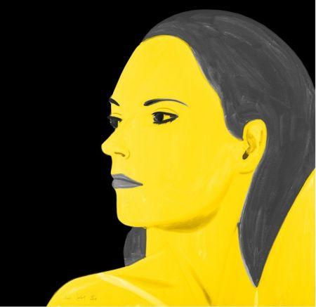 Lithographie Katz - Yellow Laura