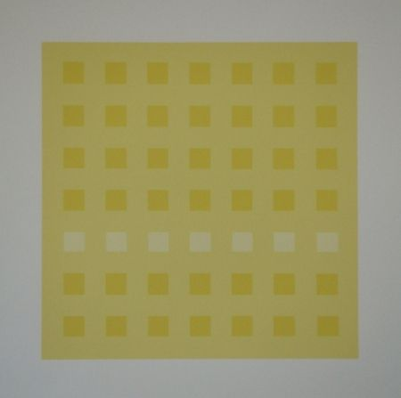 Siebdruck Calderara - Yellow Squares