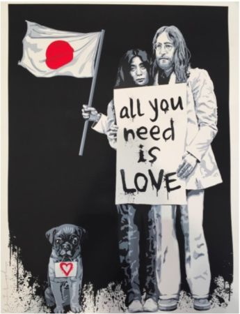 Siebdruck Mr Brainwash - Yoko Ono and John Lennon