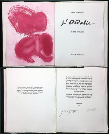 Illustriertes Buch Garache - Yves Bonnefoy. L'ORDALIE. Maeght 1975