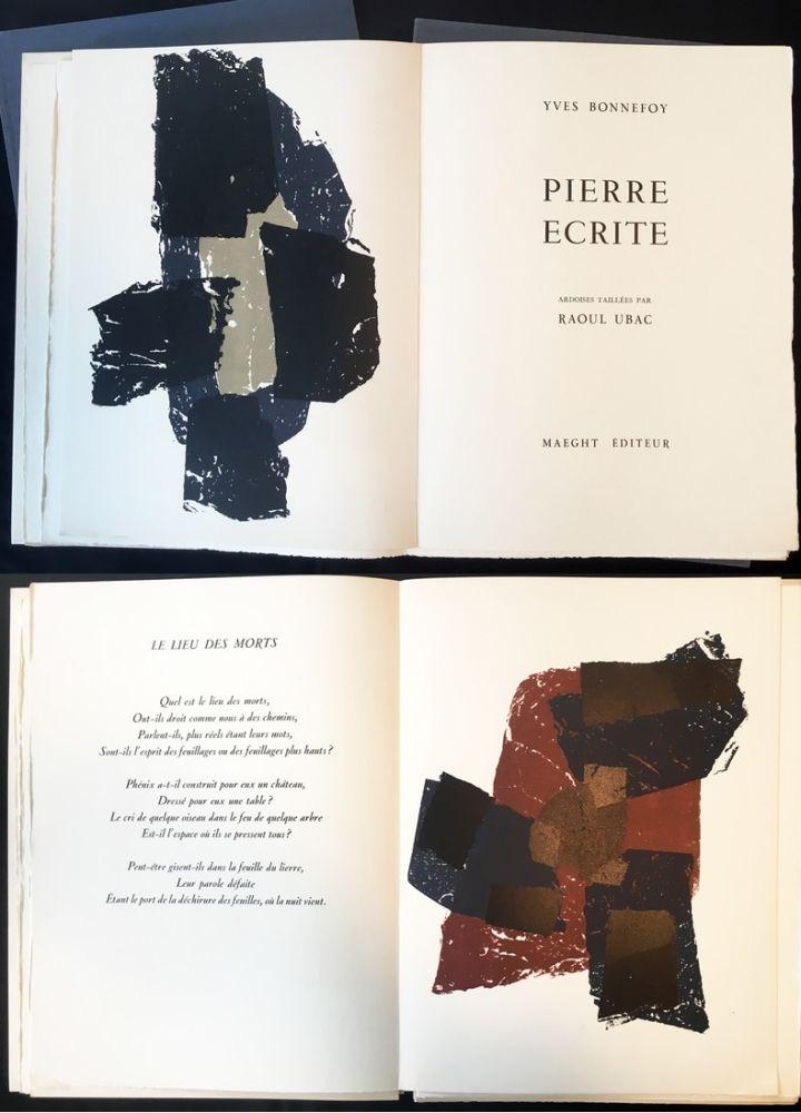 Illustriertes Buch Ubac - Yves BONNEFOY . PIERRE ÉCRITE. Ardoises taillées par Raoul Ubac