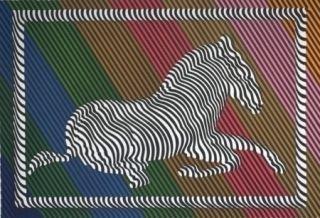 Lithographie Vasarely - Zèbre n°3
