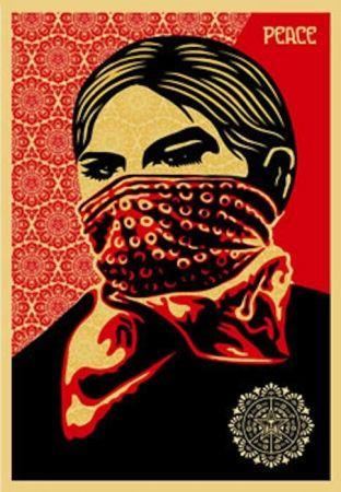 Siebdruck Fairey - Zapatista Woman. Large Format