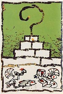Lithographie Alechinsky - Ziggourat I