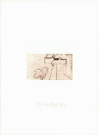 Kaltnadelradierung Beuys - Zirkulationszeit: Kreuz für Saturn